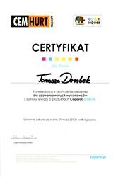 certyfikat-caparol